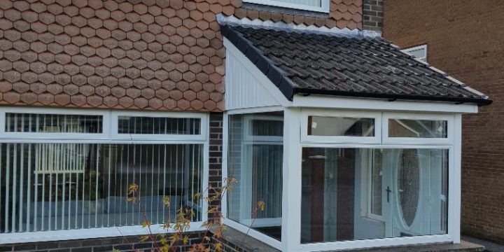 New porch roof built in Glengormley