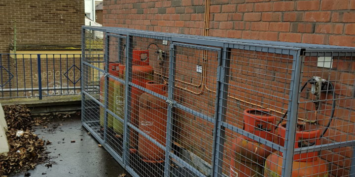 New gas cage fitted off Lisburn rd