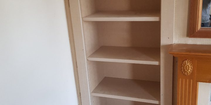 Bespoke book shelving fitted of whitewell road