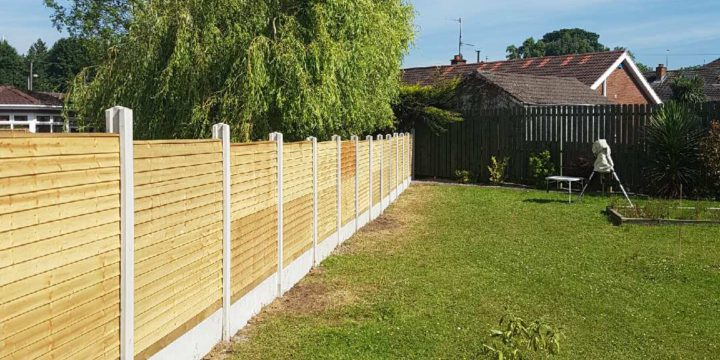 New fence with gravel boards erected in Lisburn