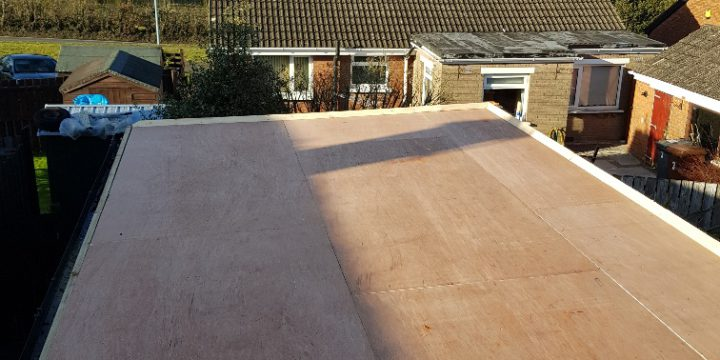 New flat roof fitted in Glengomley